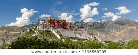 montanhas · tibete · nuvens · azul · pedra - foto stock © bbbar