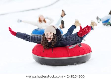 Girl Tubing in the Snow Stock photo © 2tun