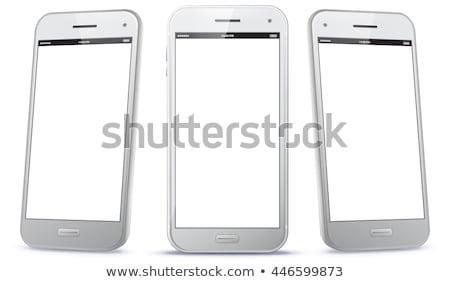 Android okostelefon fehér technológia telefon kommunikáció Stock fotó © paulinkl