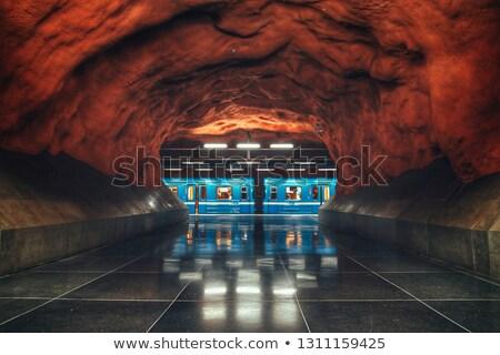 Metro estación Europa subterráneo escandinavia pared Foto stock © kyolshin