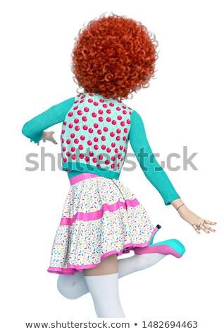 Pin Up Girl Joker  Stock photo © lenm