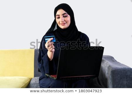 Müslüman kadın depolamak kadın karikatür Stok fotoğraf © artisticco
