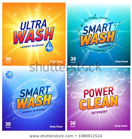 creative laundry detergent concept packaging design template Stock photo © SArts