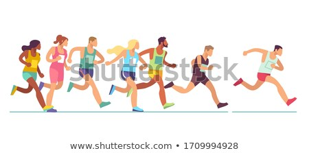 Maraton uruchomiony parku kobieta Zdjęcia stock © wavebreak_media