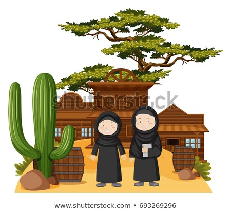 Two muslim girls in western town Stock photo © bluering