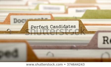 Perfect Candidates Concept. Folders in Catalog. Stock photo © tashatuvango