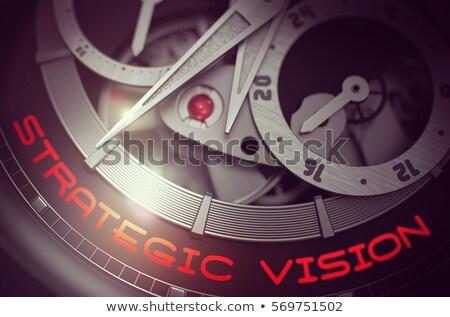 Targeting on the Vintage Wrist Watch Mechanism. 3D. Stock photo © tashatuvango