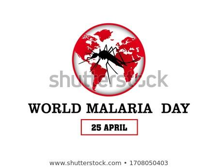 25 malária dia calendário cartão férias Foto stock © Olena