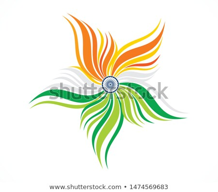 abstract artistic tri color floral Stock photo © pathakdesigner