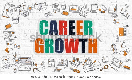 Stock photo: Career Growth in Multicolor. Doodle Design.