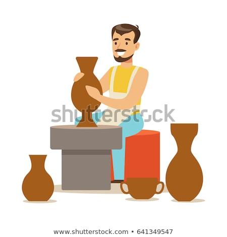 Masculina olla cerámica taller mano Foto stock © wavebreak_media