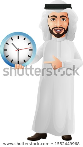 ムスリム · ビジネスマン · 目覚まし時計 - ストックフォト © rastudio