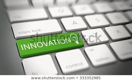 Innovations - Message on the White Keyboard Keypad. 3D. Stock photo © tashatuvango
