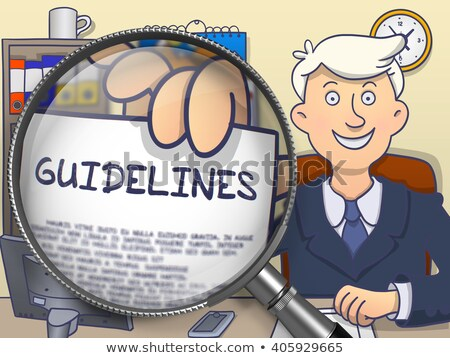 Guidelines through Magnifier. Doodle Concept. Stock photo © tashatuvango