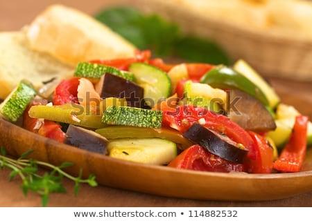 Vejetaryen yemek domates sebze diyet baharat Stok fotoğraf © M-studio