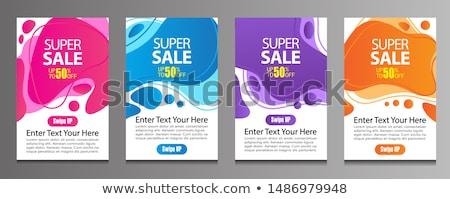 Szett vásár plakátok szórólapok terv árengedmény Stock fotó © Leo_Edition