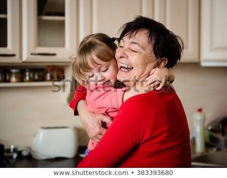 Grand-mère petit-enfant femme enfance harmonie Photo stock © IS2