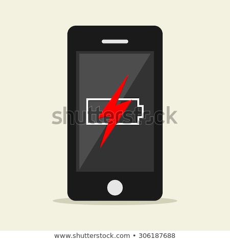 Low battery warning notification on mobile phone screen Stock photo © stevanovicigor