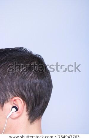 профиль голову наушников уха музыку технологий Сток-фото © IS2