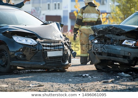 car accident at shallow depth of field Stock photo © Phantom1311