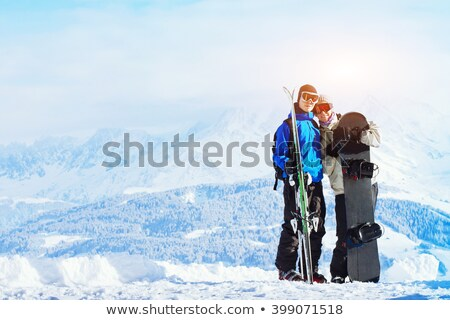 Couple in alps looking to camera Stock photo © IS2