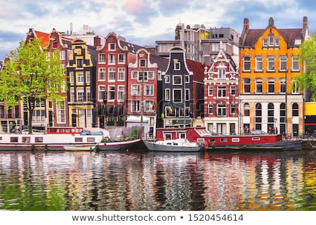 Сток-фото: Амстердам · Нидерланды · святой · Церкви · сумерки · воды
