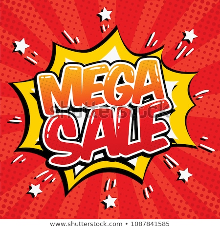 mega sale banner in comic style Stock photo © SArts