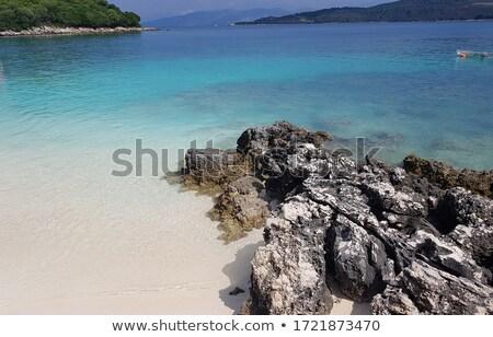 морем побережье южный Албания Средиземное море Сток-фото © travelphotography