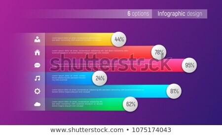 Színes lépés sablon illusztráció absztrakt háttér Stock fotó © bluering