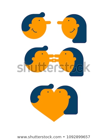 love stage meeting and kiss lovers passion vector illustratio stock photo © maryvalery