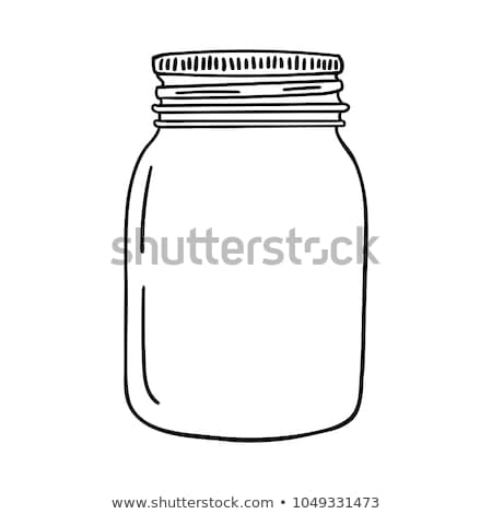 jarファイル · イチゴ · ジャム · 秋 · アイコン · 単純な - ストックフォト © hittoon