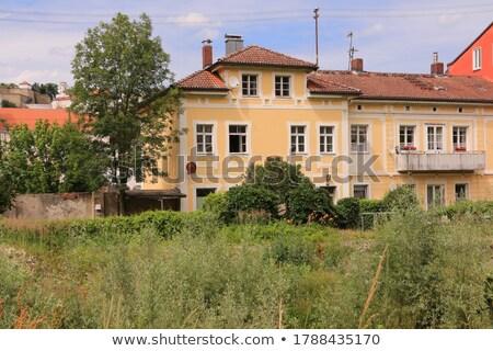 Történelmi ház város városi Európa torony Stock fotó © manfredxy