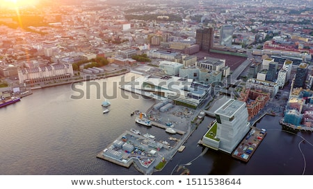 Panoramic aerial view from the drone of the the central part of the city Kiev, Ukraine, with old and Stock photo © artjazz