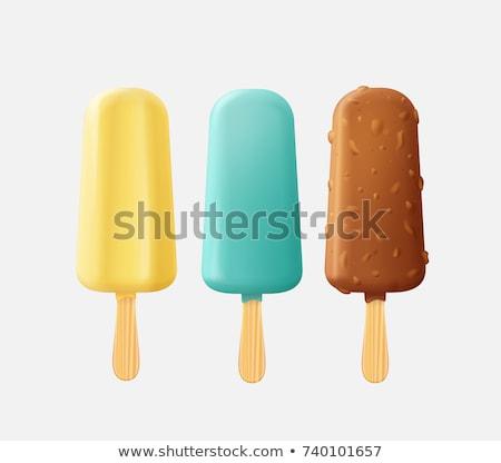 желтый · мороженым · мята · черпать · оранжевый · конфеты - Сток-фото © Digifoodstock