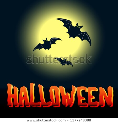 halloween · flyer · design · grand · lune · eps - photo stock © tasipas