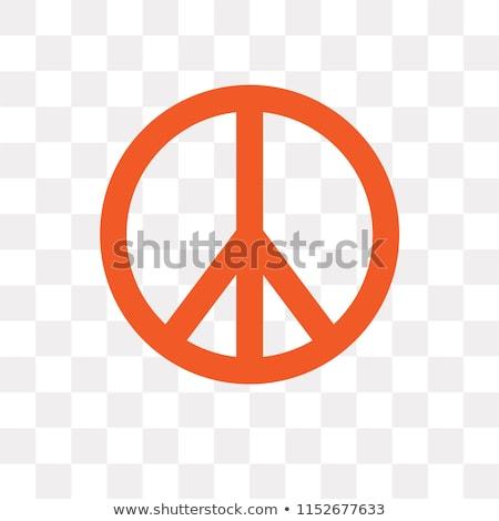 hippie · pace · segno · cartoon · sorridere - foto d'archivio © selenamay