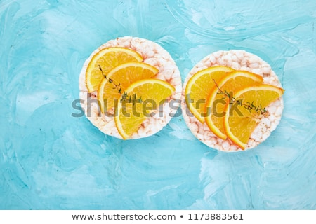 casse-croûte · riz · fraîches · fruits · bleu · aliments · sains - photo stock © Illia