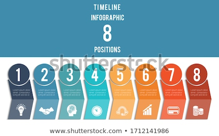 Infographic Design Template With Numbers Stock photo © adamson