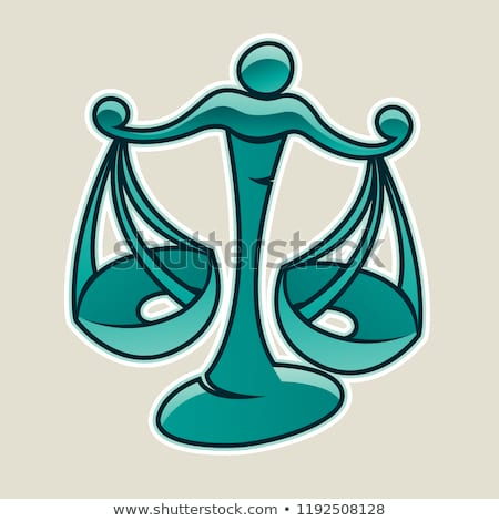 Persian Green Scales and Libra Icon Vector Illustration Stock photo © cidepix