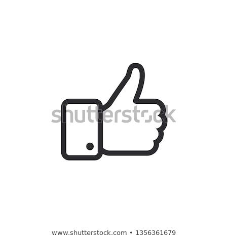 Gibi ikon vektör uzun gölge web Stok fotoğraf © smoki