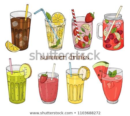 Alcohol Drink Refreshing Summer Lemonade Vector Stock photo © robuart
