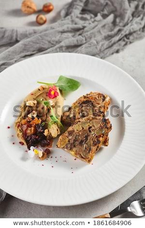Chicken liver and mushroom pate. rustic style Stock photo © zoryanchik
