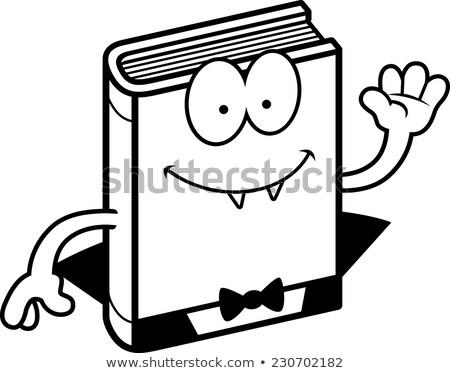 Karikatur Entsetzen Illustration Buch glücklich Stock foto © cthoman