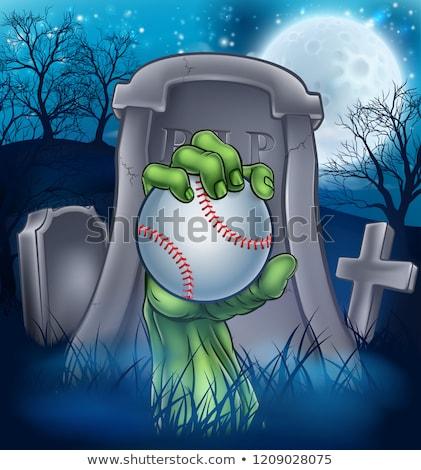 zombi · halloween · canavar · karikatür · sahne · korkutucu - stok fotoğraf © krisdog