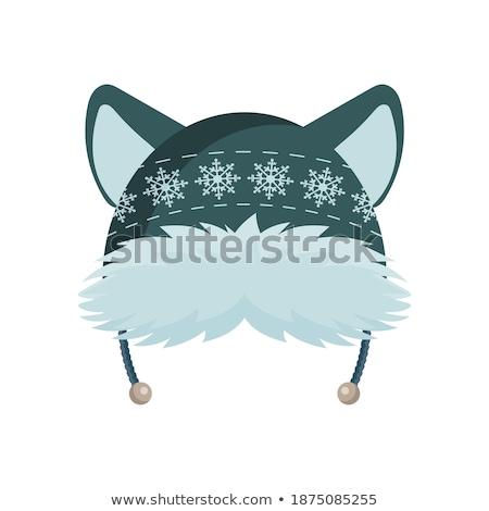 Рождества дети зеленый Hat иллюстрация ребенка Сток-фото © colematt