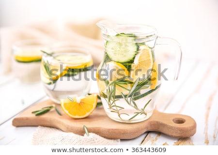 Alecrim limão água jarro limonada Foto stock © maxsol7