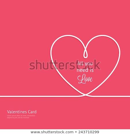 Harten witte tekst sjabloon valentijnsdag Stockfoto © ivaleksa