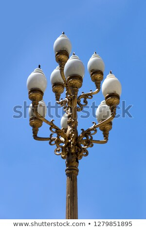 Vintage decorative streetlight on the street of Buenos Aires Stock photo © boggy