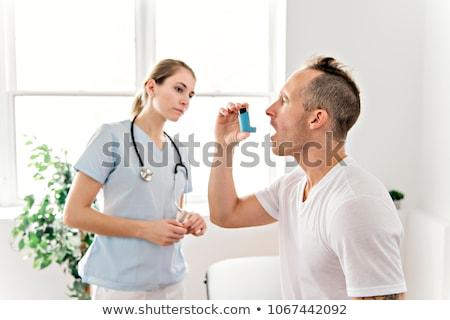 medizinischen · Arzt · Sauerstoff · Behandlung · sportlich - stock foto © Lopolo