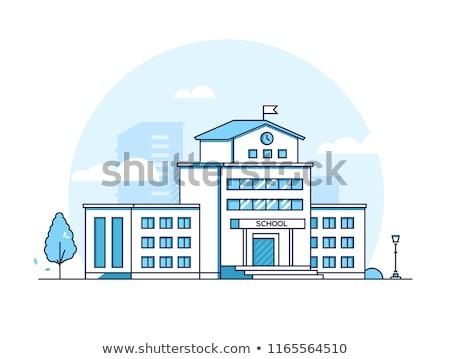 Edifício moderno linha projeto estilo branco alto Foto stock © Decorwithme